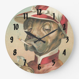 Vintage Dog Jockey Decorative Wall Clock
