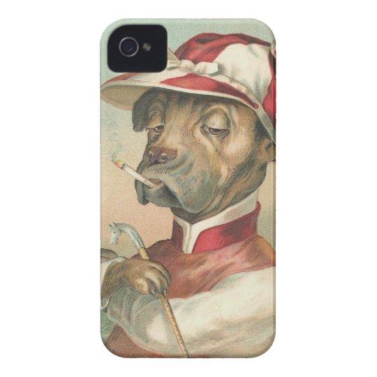 Vintage Dog Jockey iPhone Case Mate ID 4/4S