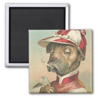 Vintage Dog Jockey Magnet