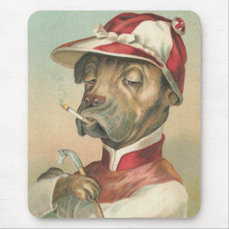 Vintage Dog Jockey Mouse Pad
