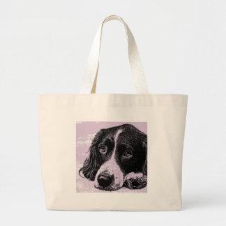 Vintage Dog Large Tote Bag