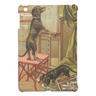 Vintage Dog Painting iPad Mini Cases