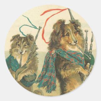 Vintage Dog Stickers