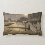 Vintage Doge's Palace by Moonlight, Venice, Italy Pillow