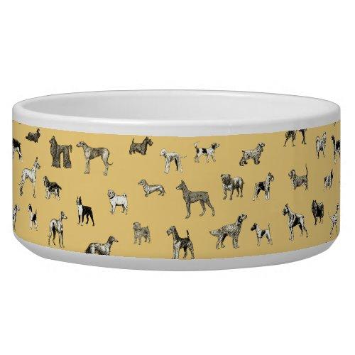 Vintage Dogs Bowl