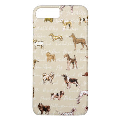 Case-Mate Tough iPhone 7 Plus Case with Airedale Terrier Phone Cases design