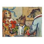 Vintage Dogs Dress for Doggy Mealtime Postcards