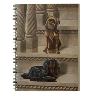 Vintage Dogs Sitting on a Staircase Notebook