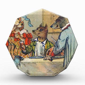 Vintage Dogs Victorian Dinner Dress Acrylic Award
