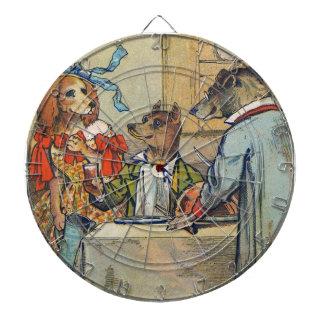 Vintage Dogs Victorian Dinner Dress Dartboard