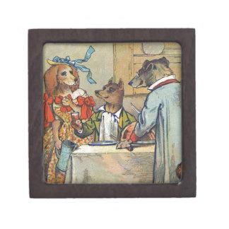 Vintage Dogs Victorian Dinner Dress Gift Box