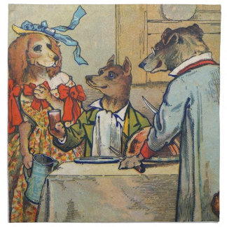 Vintage Dogs Victorian Dinner Dress Napkin