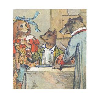 Vintage Dogs Victorian Dinner Dress Notepad