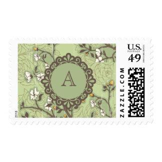 Vintage Dogwood on Green Stamp