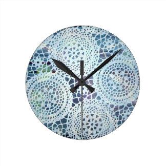 Vintage Doilies Photo Design Round Wall Clocks