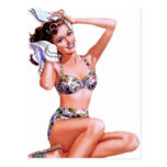 Vintage Doing the Do Pin Up Girl Post Cards