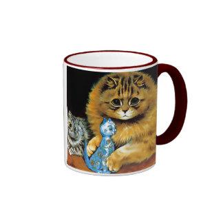Vintage Doll Cat Gift Mug