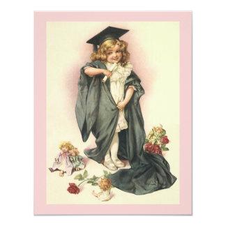 Vintage Dolls Roses Graduation 2012 Sweet Pink Ver Card