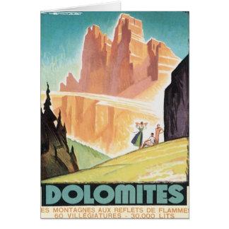 Vintage Dolomites Mountain Card