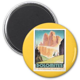 Vintage Dolomites Mountain Refrigerator Magnet