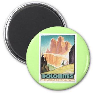 Vintage Dolomites Mountain Refrigerator Magnets
