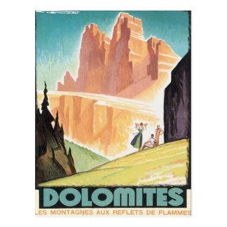 Vintage Dolomites Mountain Postcard