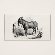 Vintage Domestic Donkey Personalized Retro Donkeys