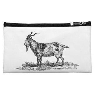Vintage Domestic Goat Illustration -1800's Goats Makeup Bag