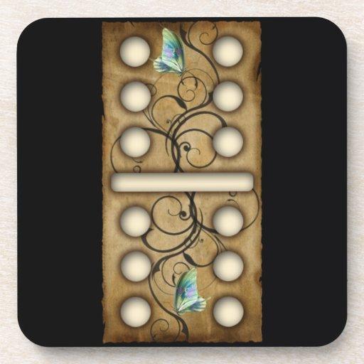 Vintage Dominoes double-six domino tile Coaster