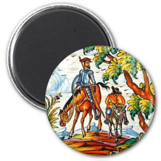 Vintage Don Quixote Majolica Pottery Art Antique Magnet