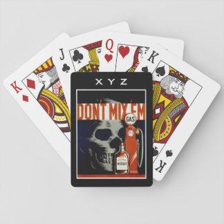 "Vintage ""Don't Mix 'Em"" custom playing cards"