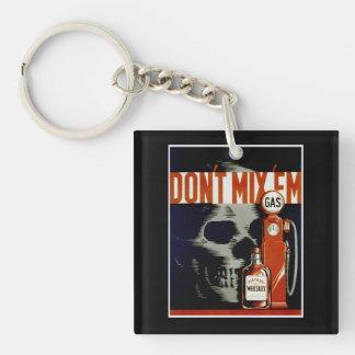 """Vintage """"Don't Mix 'Em"""" key chain"""