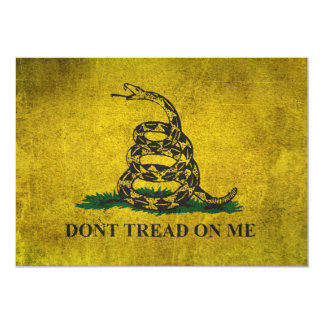 Vintage Don't Tread on Me Gadsden Flag 5x7 Paper Invitation Card