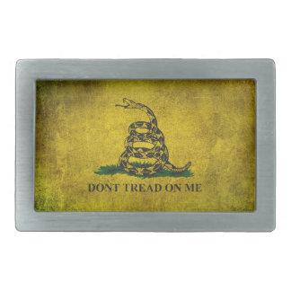 Vintage Don't Tread on Me Gadsden Flag Belt Buckles