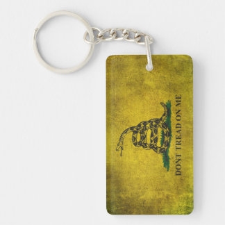 Vintage Don't Tread on Me Gadsden Flag Keychain
