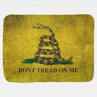 Vintage Don't Tread on Me Gadsden Flag Swaddle Blanket