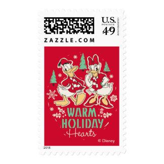 Vintage Donald & Daisy | Warm Holiday Hearts Postage