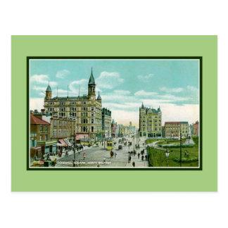 Vintage Donegall Belfast del norte cuadrada Postal