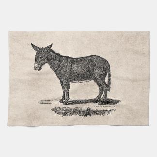 Vintage Donkey Illustration -1800's Donkeys Hand Towel
