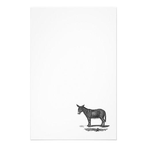 Vintage Donkey Illustration -1800's Donkeys Stationery Paper