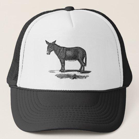 751000ad Vintage Donkey Illustration - 1800's Donkeys Trucker Hat | Zazzle.com