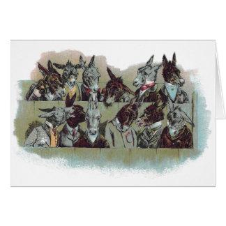 Vintage Donkey Jury Card