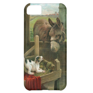 Vintage Donkey & Puppy Dog in Manger Old Barnyard Case For iPhone 5C