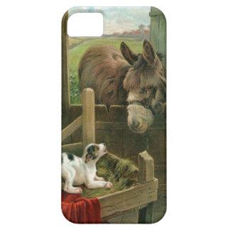 Vintage Donkey & Puppy Dog in Manger Old Barnyard iPhone SE/5/5s Case