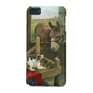Vintage Donkey & Puppy Dog in Manger Old Barnyard iPod Touch (5th Generation) Cover