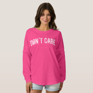 Vintage don't care typography shirt for women