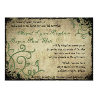 Vintage Doodle Wedding Invitation