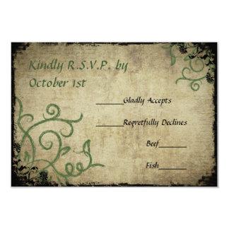 Vintage Doodle Wedding RSVP Card