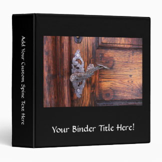 Vintage Door Handle, Aged Wood Real Estate Binder
