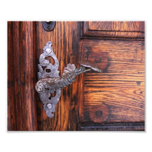 Vintage Door Handle, Aged Wood Real Estate Photographic Print